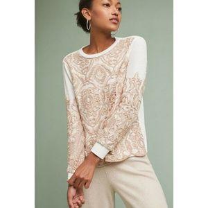 Guest Editor Anthropologie Sequin Lace Sweatshirt